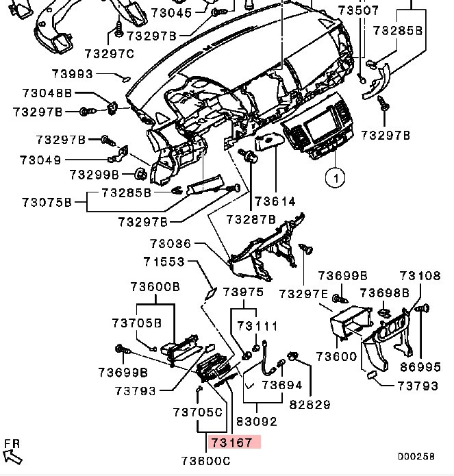 Evo X Mirror Diagram