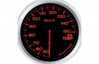 DEFI Advance BF  Oil Temp.Meter 60 ADV-BF, Red